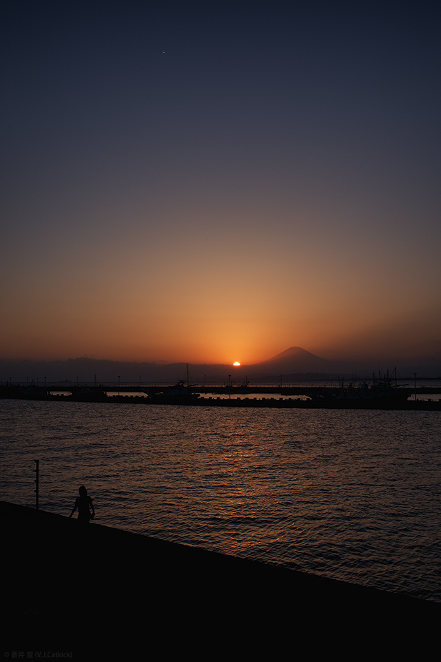 Sunset with Mt. Fuji